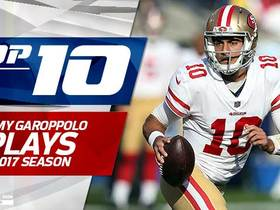 Watch: Top 10 Jimmy Garoppolo plays | 2017 season