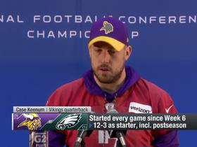 Watch: Case Keenum jokes about how everyone predicted 'Foles vs. Keenum NFC Championship'