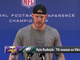 Watch: Kyle Rudolph: 'I was just out of diapers' last time Coach Zimmer was in NFC Championship