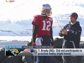 Watch: Scott Zolak explains how missing practice could hurt Tom Brady's prep for the Jaguars
