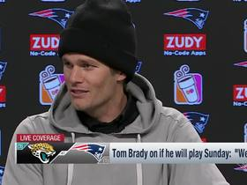 Watch: Brady on whether Hoyer is ready to play: We're in the same meetings every week