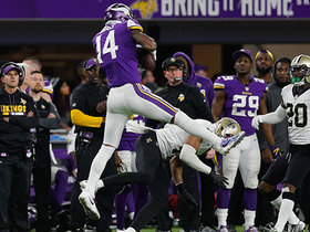 Watch: Vikings announcer Paul Allen: Diggs' TD vs. Saints 'will forever send chills up and down my spine'