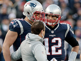 Watch: Gronk leaves field after unnecessary roughness penalty from Barry Church