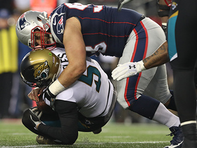 Watch: Patriots collapse the pocket on Blake Bortles for sack