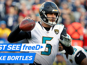 Watch: freeD: Bortles drops a dime to Cole for a beautiful over-the-shoulder catch | AFC Championship Game