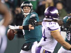 Watch: Foles escapes pocket, ropes pinpoint pass to Agholor for 42 yards