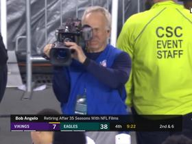 Watch: Joe Buck bids farewell and a happy retirement to two NFL Films cameramen