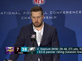 Keenum on Vikings' loss: 'There's a lot of things that went wrong today'