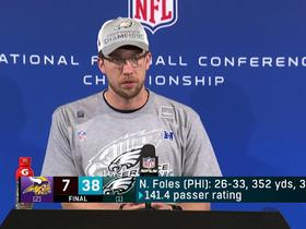 Nick Foles at loss for words after leading Eagles' to NFC Championship win