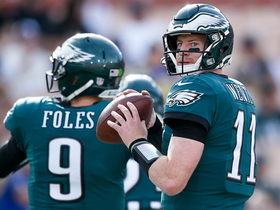 Watch: Kyle Brandt: I don't think Carson Wentz plays as well as Foles did Sunday
