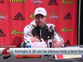 Watch: Luke Falk: Senior Bowl interviews are like 'speed dating' for a job
