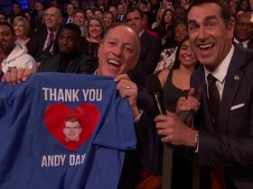 Jim Kelly brings a 'Thank You Andy Dalton' t-shirt to NFL Honors