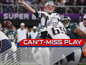 Watch: Can't-Miss Play: Graham comes up with CLUTCH strip-sack on Brady