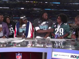 Blount, Ajayi joined by their moms to discuss Super Bowl LII win