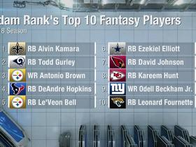 Watch: Adam Rank's top 10 fantasy players for 2018
