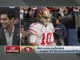 Jimmy G on why he likes SF: 'It's 75 degrees here, it's not a snowstorm like Chicago'