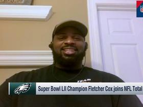 Watch: Fletcher Cox reacts to Kevin Hart crashing his Super Bowl LII postgame interview