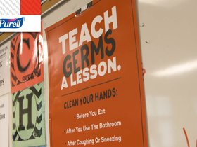 Watch: Students learn about germs and the importance of getting to school