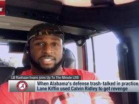Watch: Rashaan Evans explains why his 'versatility' separates him from other Alabama LBs in NFL Draft in recent years