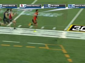 Simulcam: Marcus Mariota zooms past Mayfield, Tebow, Winston in 40-yard dash