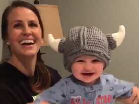 Julie and Cooper Cousins say 'Skol' to Vikes fans on Twitter