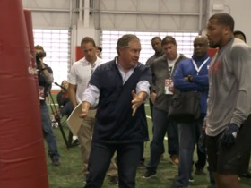 Watch: Belichick coaches Chubb at pro day: 'We're picking 31, no chance' we'll see you