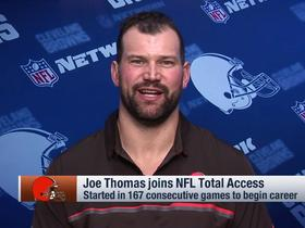Watch: Joe Thomas on Browns' draft strategy: 'I imagine they'll probably draft a quarterback' in Round 1