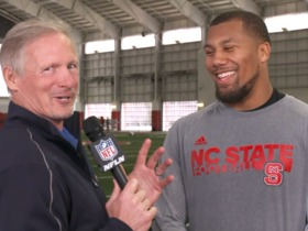 Watch: Bradley Chubb on NC State's pro day: 'It's a lot more intense here'