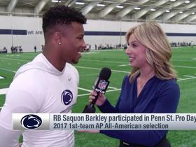 Watch: Saquon Barkley: No doubt I'm the best player in this draft