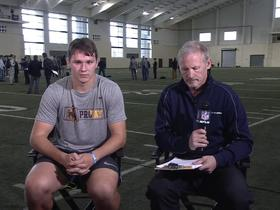 Watch: Josh Allen aces Mike Mayock's pop quiz after his pro day