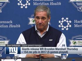Watch: Dave Gettleman's response when reporter mentions Brandon Marshall's release: 'Really?'