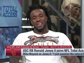 Watch: Ronald Jones II responds to Mike Mayock's concerns about his hands