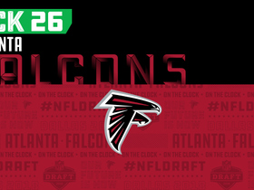 Watch: Falcons pick No. 26 | NFL Mock Draft Live