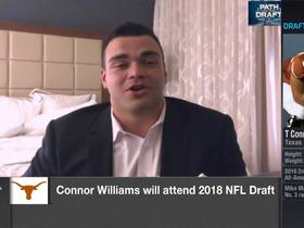 Watch: Connor Williams on if he's a guard or tackle: 'I'm open to play anywhere'