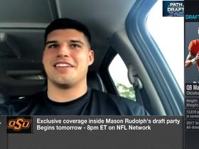Watch: Rudolph: 'I'm having my draft party (Thursday) night, because I think that's when I'm going to go'