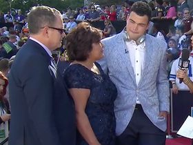 Watch: Connor Williams brings his parents on the red carpet