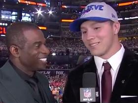 Watch: Josh Allen on getting drafted 7th overall: 'I'm on top of the world right now'
