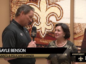Watch: Gayle Benson on the 2018 NFL Draft