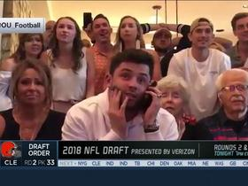 Watch: Baker Mayfield reacts to being selected No. 1 by Browns