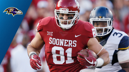 Baltimore Ravens select Oklahoma tight end Mark Andrews No. 86 in the 2018  NFL Draft - NFL Videos 835806fcb