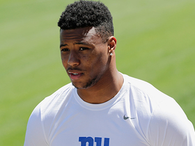Kim Jones explains why OBJ, Saquon's lockers being near one another is significant for Giants' offense