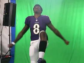 Watch: Lamar Jackson practices Ray Lewis celebration at Rookie Premiere
