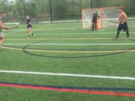 Watch: Rob Gronkowski attempts field hockey, with little success