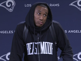 Watch: Marcus Peters on Aaron Donald's holdout: 'Pay the man'