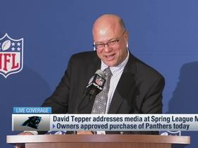 Watch: David Tepper to Ian Rapoport: 'Hey I've seen you on TV'