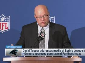 Watch: David Tepper on Panthers: 'Charlotte is a logical place for a stadium'