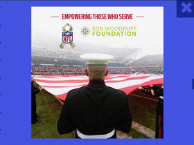 Watch: NFL partners with the Bob Woodruff Foundation to support military non-profit organizations