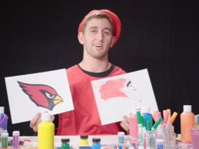 Watch: Watch NFL rookies attempt to draw their team logos