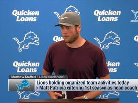 Watch: Matthew Stafford on Matt Patricia: 'We're always talking'