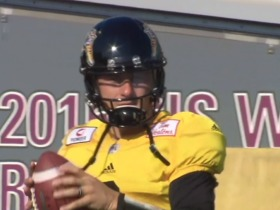 Watch: Johnny Manziel practices with Tiger-Cats
